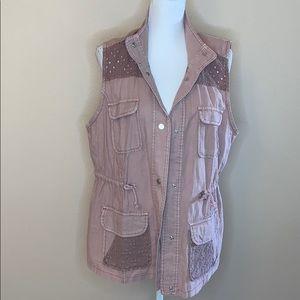Maurices linen blend vest jacket